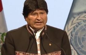 Presidente Morales instó a adaptar experiencia indígena frente al cambio climático