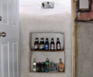 Una ingeniosa nevera ecológica esculpida en nieve