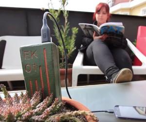 Ingenieras chilenas inventan un dispositivo que permite cargar celulares conectándolos a las plantas